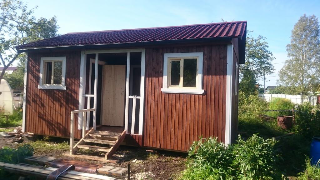 Дачный домик со входом по центру+