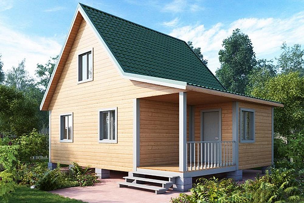каркасный дом кд-2+